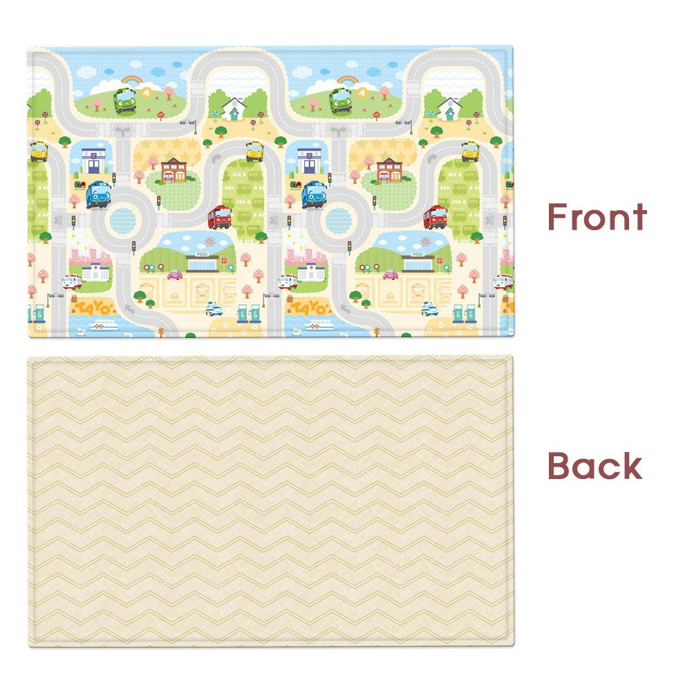 上等な Parklon Pure Playmat Soft Parklon Playroom Mat Baby Medium Playmat Double Sided Design Happy Tayo 両面デザイン 赤ちゃんプレイマット (海外直送品) (Medium) B071KSGJ3S Medium, Colors Pro:08d050c8 --- impavidostudio.com