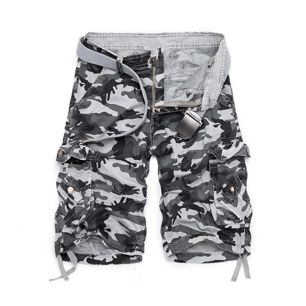 Camouflage Loose Cargo Shorts Men Cool Summer Military Camo Short Pants Homme Cargo Shorts No Belt
