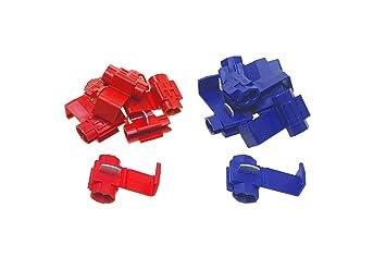 10 Abzweigverbinder Kabelverbinder Schnellverbinder Stromdiebe rot blau gelb Set