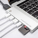 TUNEWEAR ALMIGHTY DOCK TB2 MacBook Pro 専用 マルチUSB-Cハブ (Thunderbolt 3対応/HDMI/最大40Gbps/5K出力/PD対応) シルバー TUN-OT-000039