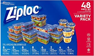 Ziploc Food Storage to Go Containers with Lids (48 Pc Set)