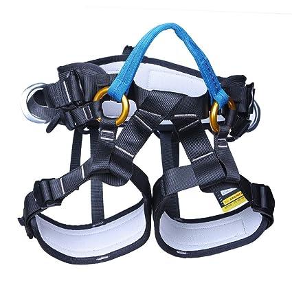 XHHWZB Arnés de Escalada, Cinturón de Seguridad para Alpinismo Profesional para Escalar, Rescate de