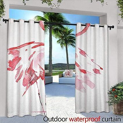 c685c374fdea Amazon.com : Living Room/Bedroom Window Curtains Flamingo Flamingo ...