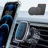 LISEN Phone Holder Car, [Strong Clip] Magnetic Phone Mount [6 Strong Magnets] Car Phone Holder [Case Friendly] phone Car Hold