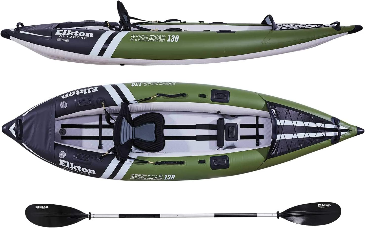 Amazon.com: Elkton Outdoors - Kayak de pesca con cabeza de ...