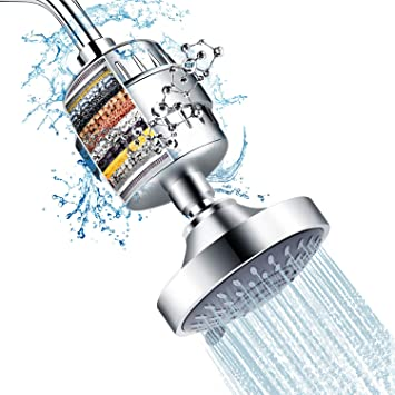 Bathroom In-Line Shower Head Replacement Filter Element Water Cleaner Kit