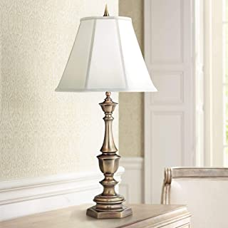 product image for Stiffel TL-K6165-K9043-AB One Light Table Lamp, Antique Brass Finish with Ivory Shadow Shade