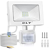 Foco LED Exterior, Focos LED Sensor Movimiento Exterior Impermeable, 10W CLY LED 1000LM IP66 6500K, Lámparas Led de…