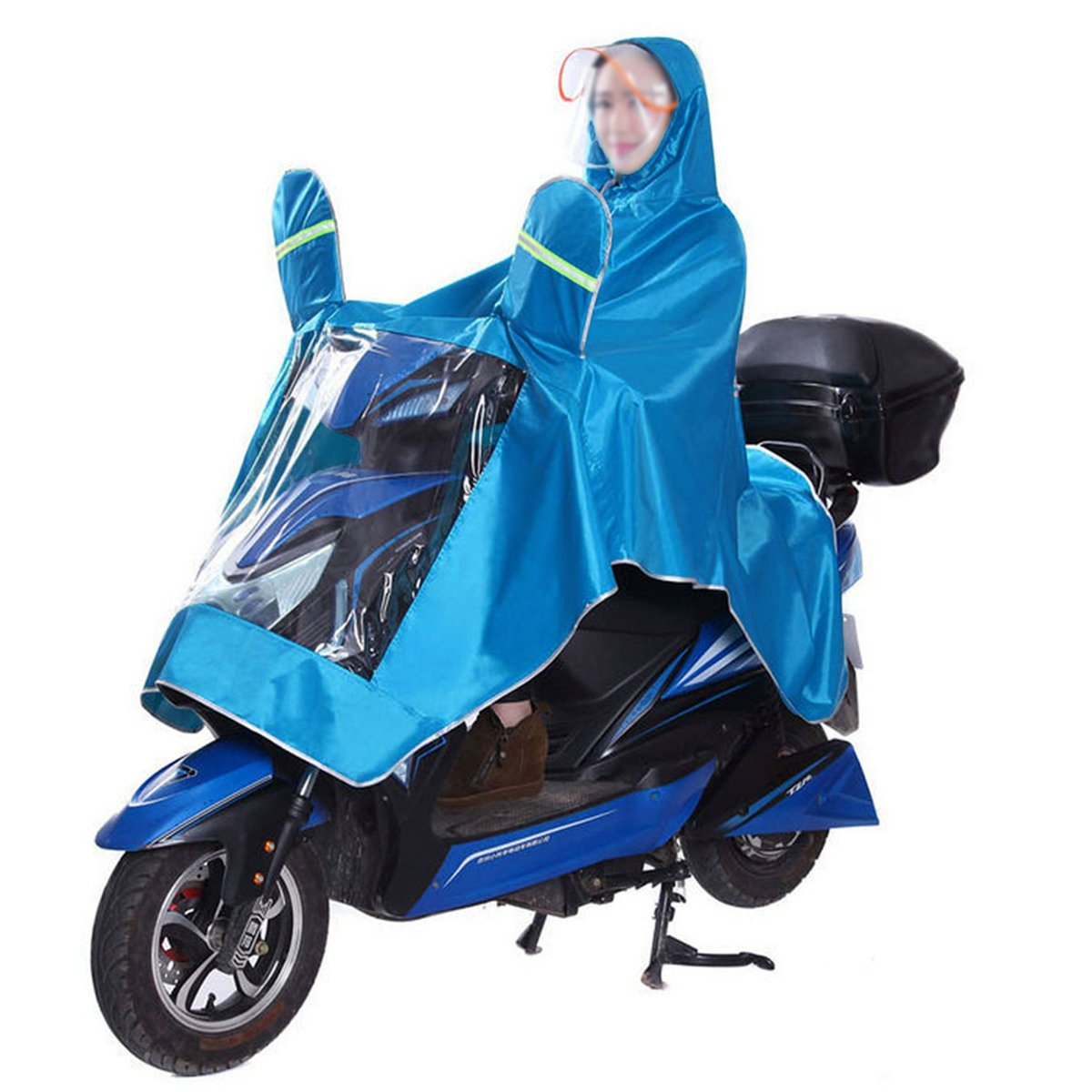 Millya Waterproof Portable Women Dry Hooded Raincoat Cute Polka Dot Rainwear for Bike Bicycle Motorbike Motorcycle XXXXL yy-02178-01C