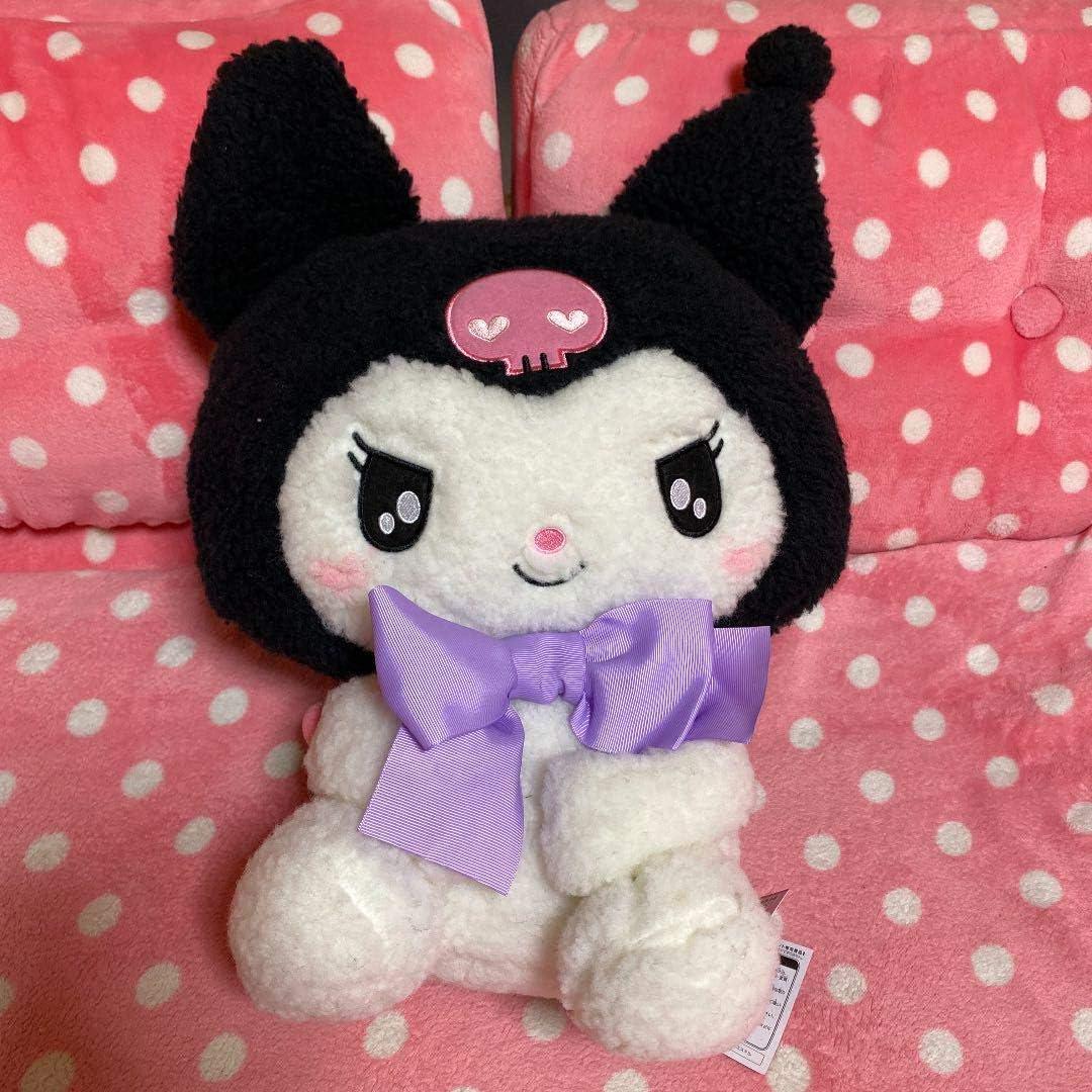 furyu My Melody Kuromi Glitter Doll BIG stuffed Soft plush 30cm cute kawaii