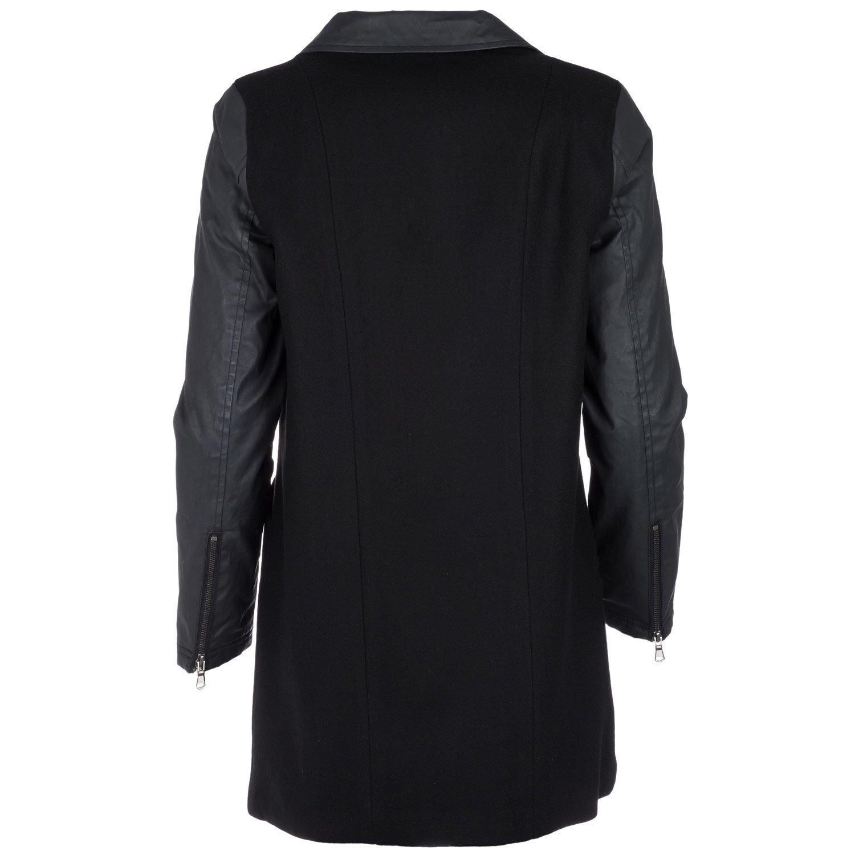 adidas, langer Damenwollmantel, schwarz: : Bekleidung
