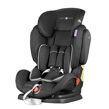 Cozy N Safe, Silla de coche grupo 1/2/3, negro: Amazon.es: Bebé