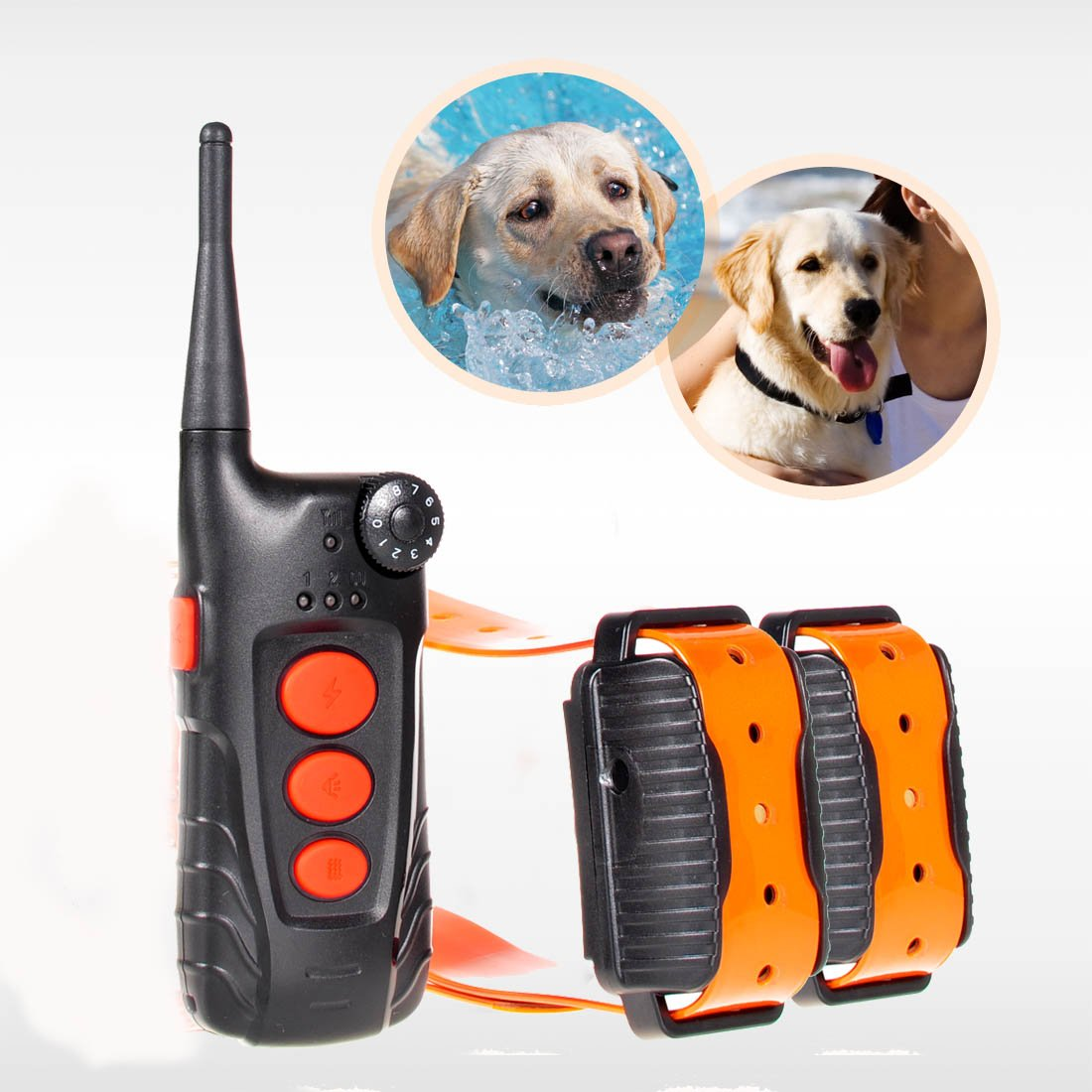 Aetertek® AT-918C-2 Updated & Submersible Dog Training Shock Collar Rechargeable Dog Collar with 600 Yards Remote Range (For 2 dogs) by Aetertek