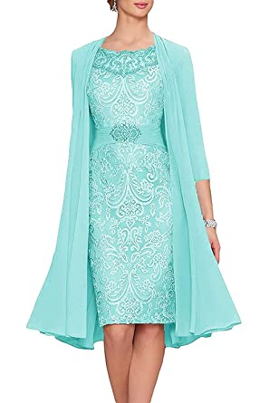 6d519cd7c70 XSWPL Women s A-line Short Party Dress Chiffon Lace Mother of The Bride  Dress with
