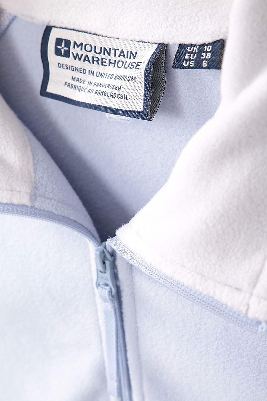 Mountain Warehouse Sweat Montana Demi-zipp/é pour Femme /à s/échage Rapide Respirant en Micropolaire Confortable et Chaud pour Les Voyages