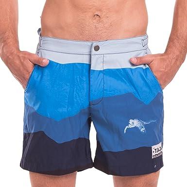 141241f73b Taddlee Swimwear Men Swimsuits Board Shorts Beach Surf Swim Trunks Boxer  Bermuda (S) Blue