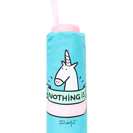 Mr.Wonderful Nothing Is Impossible Paraguas Mediano, Color Turquesa: Amazon.es: Equipaje