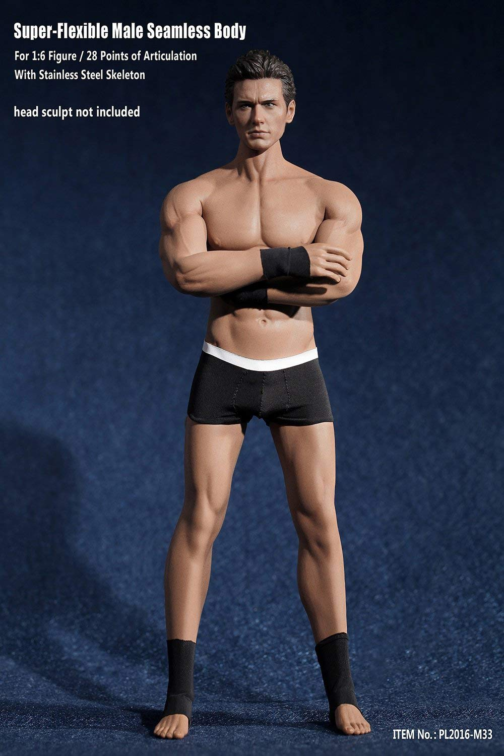 Phicen 1/6 Scale Super Flexible Male Muscular Seamless Body PL2016-M33