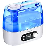 VicTsing Ultrasonic Cool Mist Humidifier, 3L House Humidifiers Include Smart Humidity Monitor & Timer, 360 Adjustable Mist Nozzle, Whisper-Quiet Operation & LCD Screen - Bedroom Baby