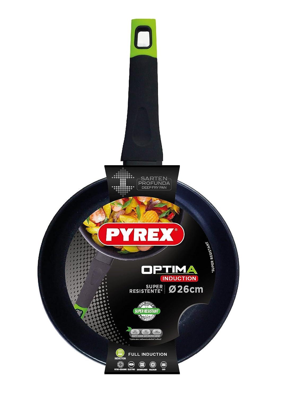 Pyrex Optima - Sartén de aluminio forjado 26 cm, 3,8mm espesor, Inducción: Amazon.es: Hogar