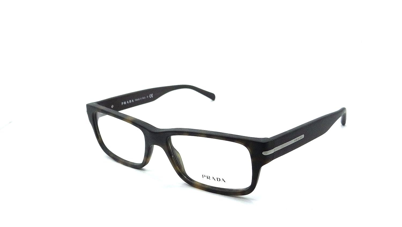 bdbcf8eed24 Prada Rx Eyeglasses Frames Vpr 22R Haq-1o1 52x16 Matte Havana Made In  Italy  Amazon.ca  Clothing   Accessories