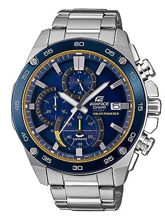f9e6f4d72811 CASIO Reloj Cronógrafo para Hombre de Energía Solar con Correa en Acero  Inoxidable EFS-S500DB-2AVUEF  Amazon.es  Relojes