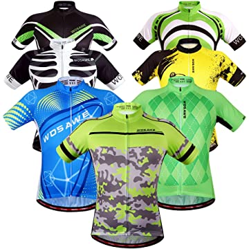 WOSAWE Mens Breathable Cycling Jersey 4D Padded Breathable Quick Dry 6e5a80356