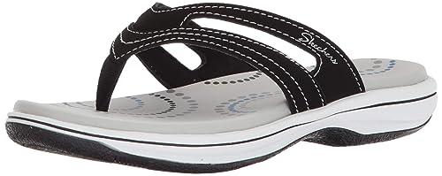 52e416d856653 Skechers Women s Bayshore-Hidden Springs-Contrast Stitching Thong Flip-Flop
