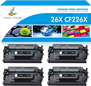 True Image Compatible Toner Cartridge Replacement for HP 26X CF226X 26A CF226A M426fdw Laserjet Pro M402n M402dn MFP M426fdn M426dw M426 M402 M402d M402dw Printer Ink High Yield (Black, 4-Pack)