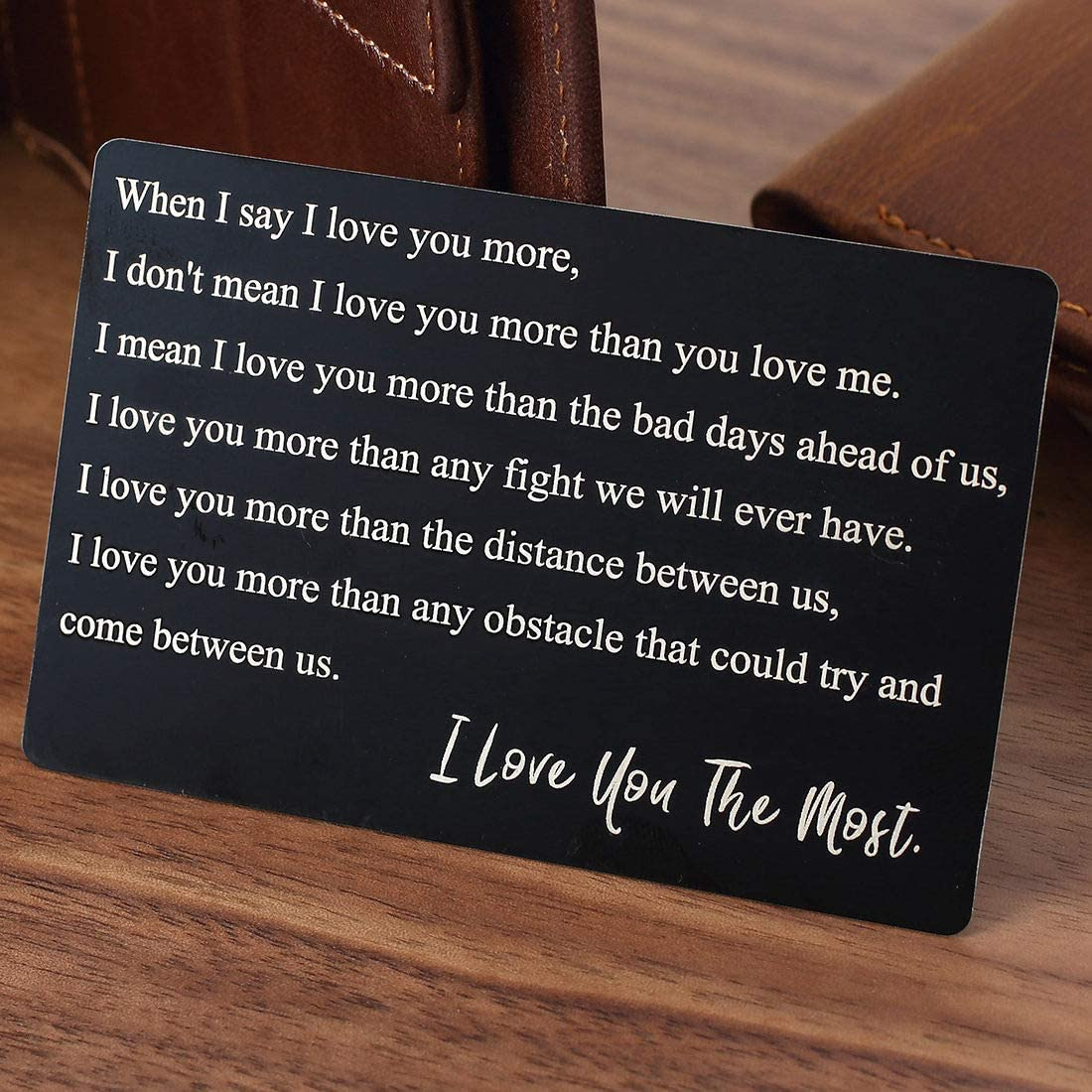 10 ten tin year ANNIVERSARY Gift ~ Wallet insert love note card  ~ Traditional Aluminum Gift ~ gift ideas for men