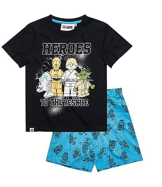 LEGO Star Wars Chicos Pijama Mangas Cortas - Negro: Amazon.es: Ropa y accesorios