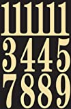 "Hy-Ko MM-5N Self-Stick Numbers, 3"", Black/Gold"