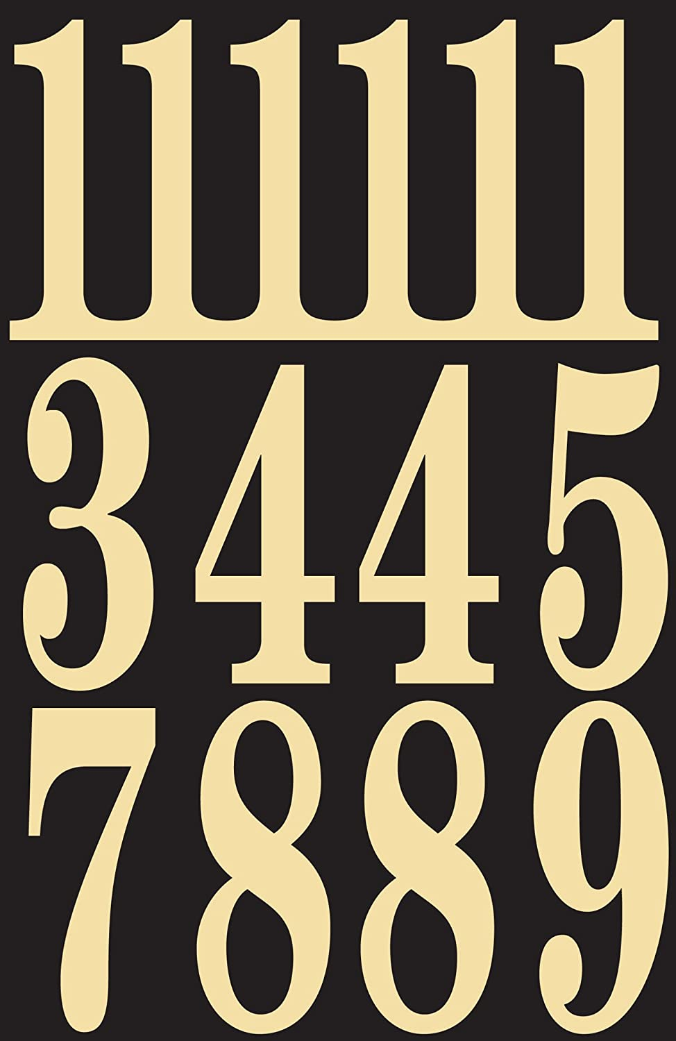 Self Adhesive Vinyl Numbers 3 Inch - Black and Gold HY-KO PRODUCTS Jensen (Home Improvement) MM-5N