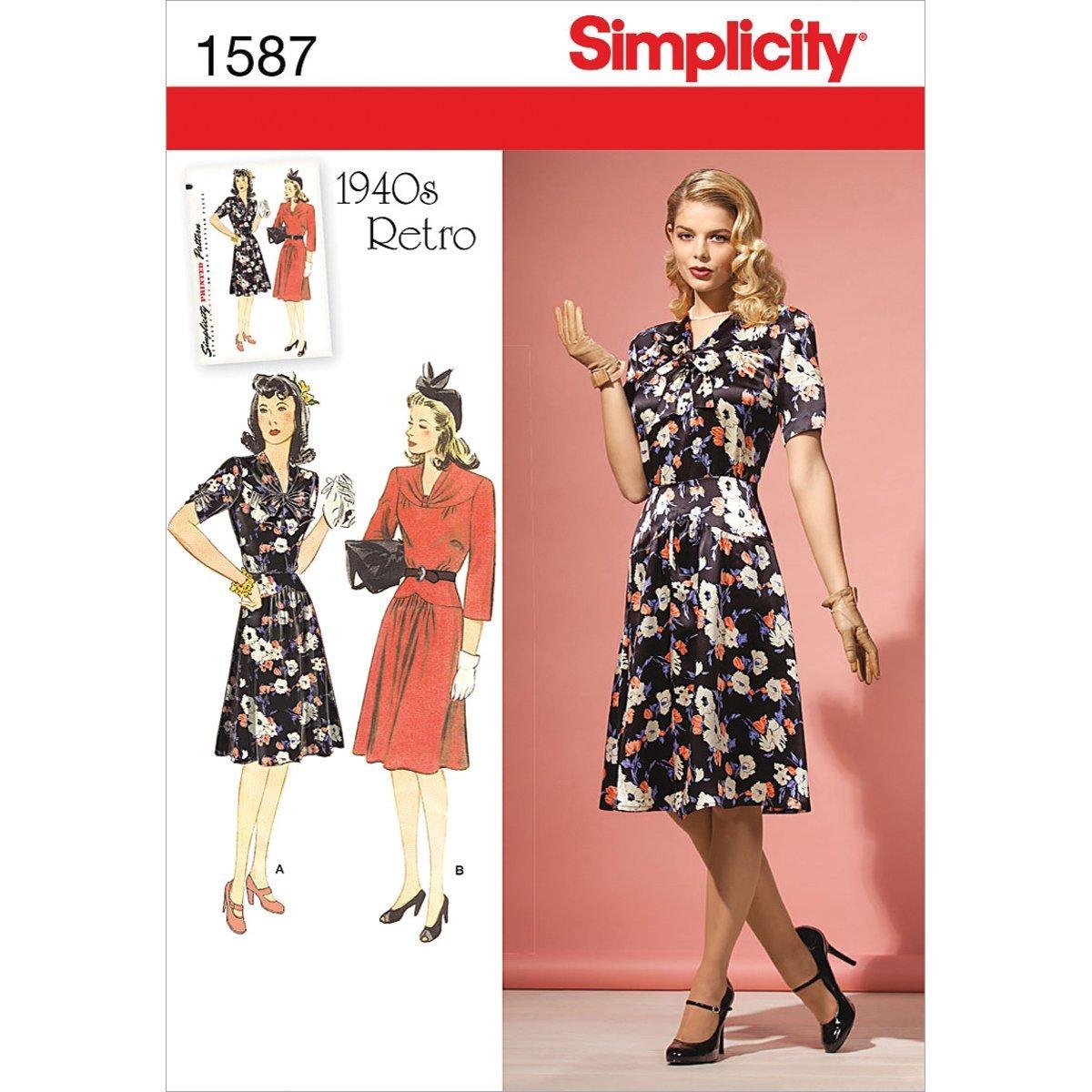 Simplicity 1587 Größe H5 Misses und Miss Petite 1940 's