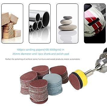 Set 60PCS 100-2000 Grit Sandpaper Wet/&Dry Polishing Grinding Pads Sanding Discs