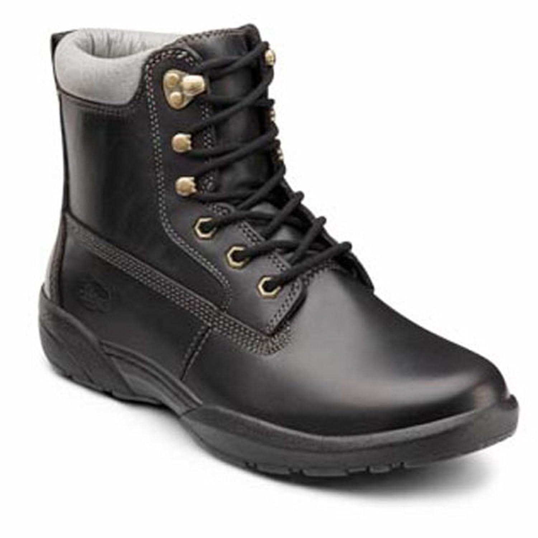 Dr. Comfort Boss Men's Therapeutic Diabetic Extra Depth Boot leather lace-up 15.0 Medium (B/D) Black Lace US Men|Black