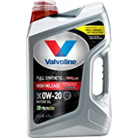 $21 » Valvoline Full Synthetic High Mileage with MaxLife Technology SAE 0W-20 Motor Oil 5 QT