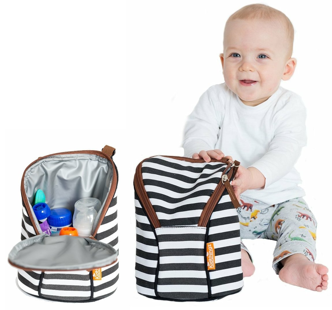 Kidthingz Double Bottle Bag Insulated- Easy to Take Anywhere Color Fast Treated, Looks Great for Baby Formula, Breast Milk, Sports Drink - Water Bottle Holder by Kidthingz (Image #3)