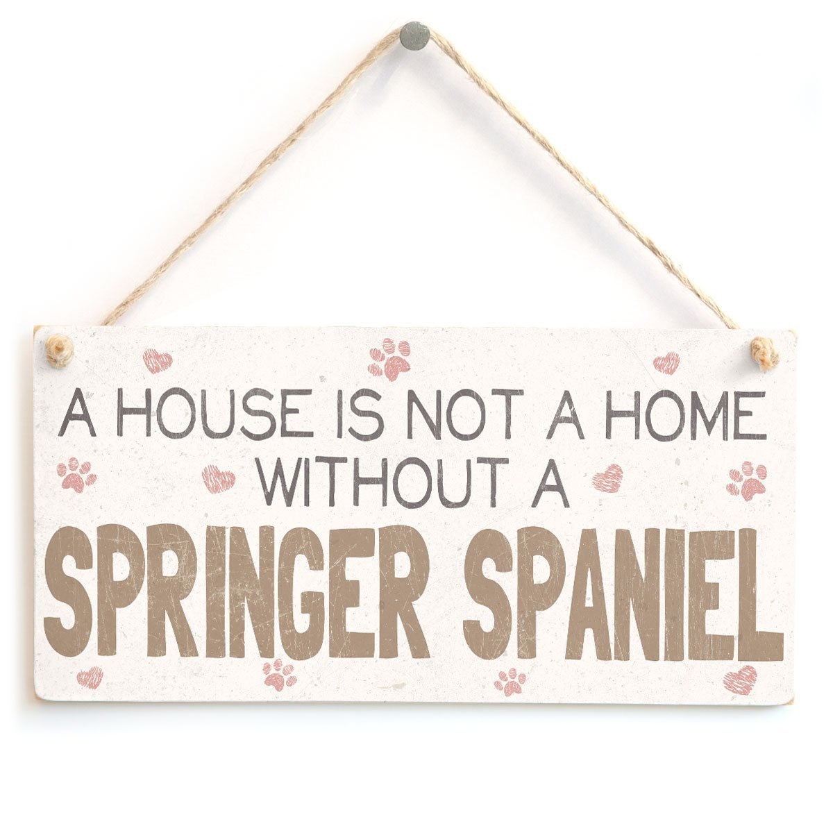 Beautiful Home Accessory Gift Sign for Springer Spaniel Dog Owners 10x5 Meijiafei All You Need is Love and A Springer Spaniel