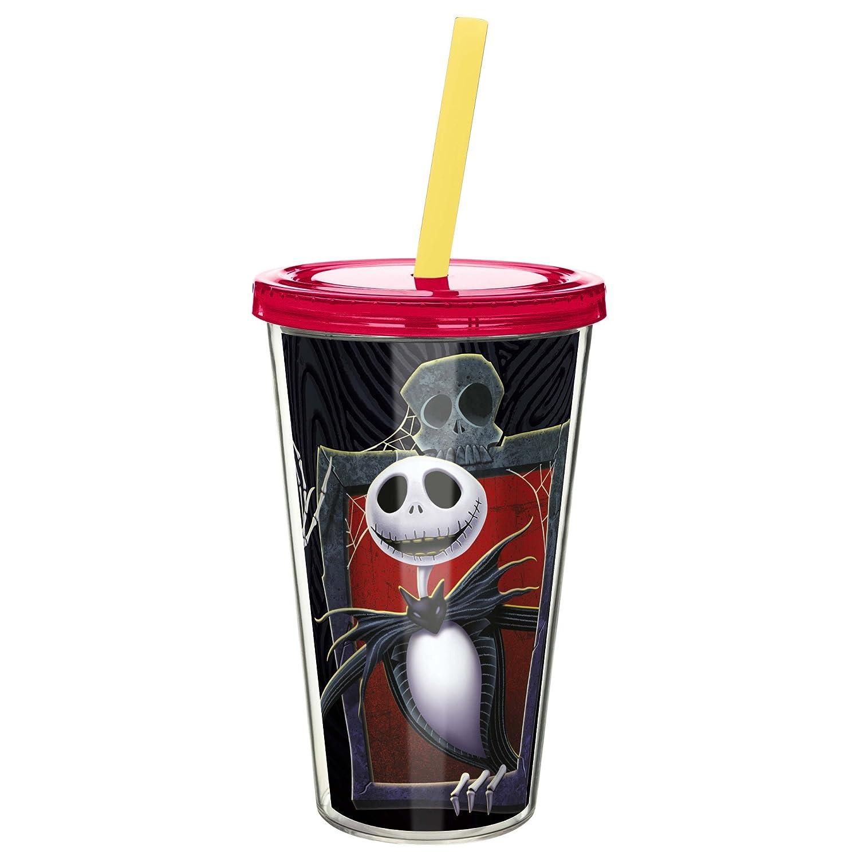 Zak Designs Nightmare Before Christmas 6' Soup Bowl, Single Unit, Durable Melamine Plastic, BPA-Free, Holds 27oz Capacity, Bowl NBCD-0361