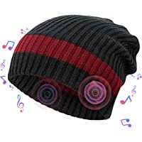 Romanda Bluetooth Music Hat, Wireless Beanie Headset with Powerful Bass, Bluetooth Cap Handsfree Washable Suitable for Outdoor Sports Running Skiing Skating Cycling