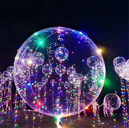 Amazon.com: 5 pcs 18-Inch Bobo bola globo con luz LED Bar ...