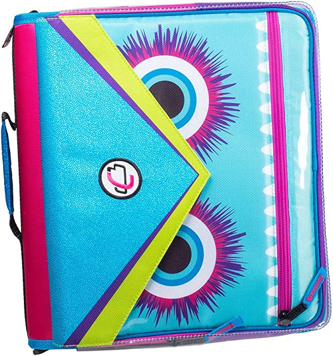 Case it LT-307-ME Universal Monster Eye Zipper Binder with Removable Laptop Sleeve, 2-Inch O Rings, Shoulder Strap, Magenta (LT-307-ME-MAG)