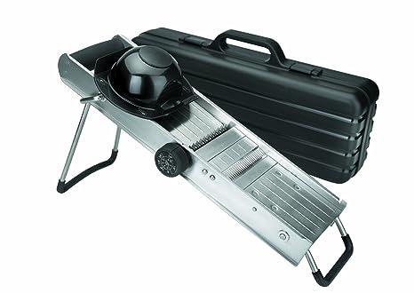 Lacor - 60357 - Mandolina Con Protector y Cuchillas Giratorias Inox.