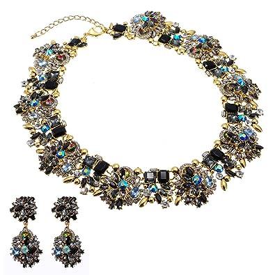 bd121432de42 Jerollin gargantilla babero collar de mujeres collar para vestido bisuteria  mujer cadena babero collar Colgante y Pendientes  Amazon.es  Joyería
