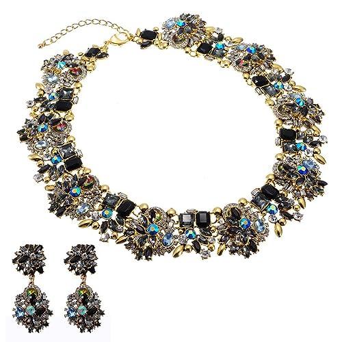 68221cac9b10 Jerollin gargantilla babero collar de mujeres collar para vestido ...