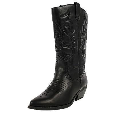 Amazon.com | Soda Womens Reno Fashion Boots, Black Pu size 7.5 ...
