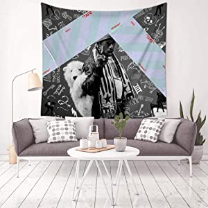 Luv-is-Rage 2 Home Tapestry Wall Hanging Mural Banner Decor Bedroom Living Room Tablecloth