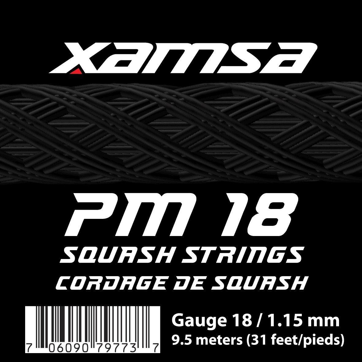 Xamsa PM 18 Squash文字列9.5メートルセット   B07772NT63