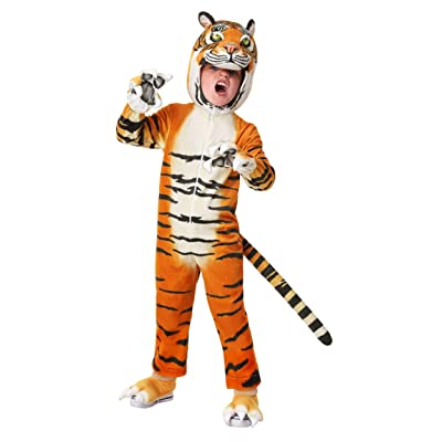 Toddler's Realistic Tiger Costume: Clothing